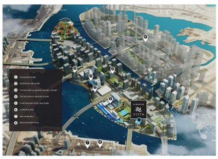 للبيع شقق داخل الماريه ابو ظبي بقسط1% شهري مفروشه