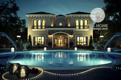 للبيع..فيلا VIP  مع مجالس وحمام سباحة في مدينة خليفة أبوظبي