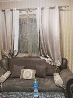 للايجار شقة مفروشة بالشارقة القليعة غرفة وصالة