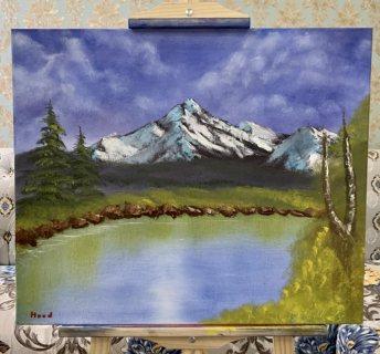 """لوحة للطبيعة بالالوان الزيتية / """"landscape oil painting 20""""x24"""