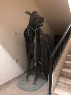 حصان نحاس بنفس حجم الحصان الحقيقي