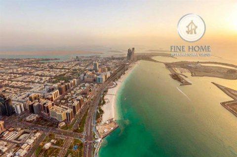 للبيع | أرض سكنية على البحر مباشر | جزيرة ناريل أبوظبي