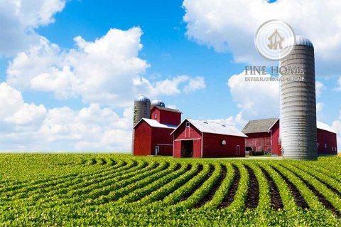 للبيع | مزرعة 360 ألف قدم مربع | مزارع الرماح على طريق العين