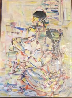 لوحة للفنان المصري الشهير ممدوح سليمان