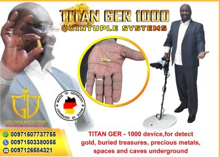TITAN GER 1000 - 5 SYSTEMS - Underground Gold Detector