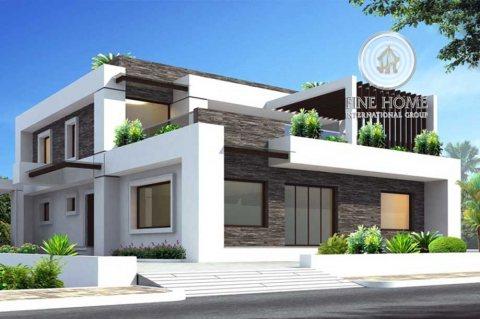 للبيع | فيلا مفروشة 6 غرف نوم تقع على زاوية وشارعين | مدينة شخبوط أبوظبي