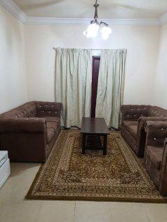 للايجار شقة مفروشة بالشارقة القاسمية غرفة وصالة