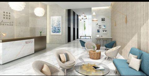 شقة للبيع غرفتين وصاله في البرشا مقدم 124,000 درهم