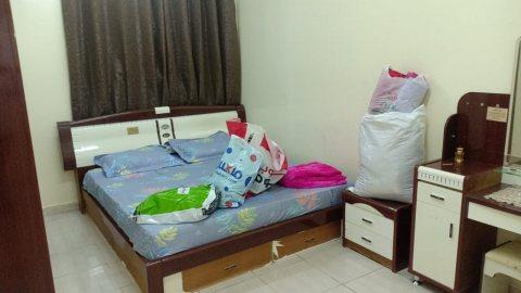 للايجار شقة مفروشة غرفتين وصالة بالقاسمية فرش جيد