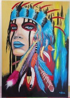 رسم يدوي بألوان زيتية 70 ×100 cm