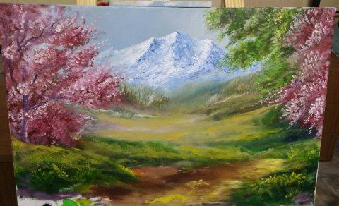 لوحة بالالوان الزيتية