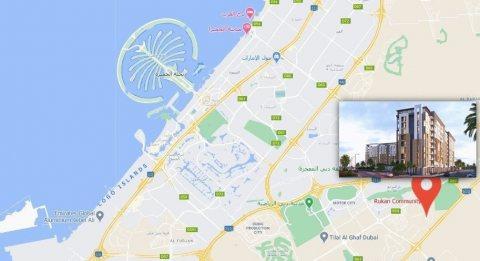 غرفتين وصالة في دبي ب 612 ألف درهم