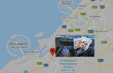 غرفة وصالة مفروشة بتصميم إيطالي في دبي ب 671 ألف درهم
