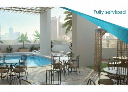 تملك شقة غرفة وصالة في البرج الذكي الأول من نوعه بمدينة الشارقة .