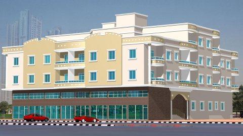 للايجار شقة غرفتين وصاله دبل حمام تكيف مركزي بعجمان قريبة من شارع عمار