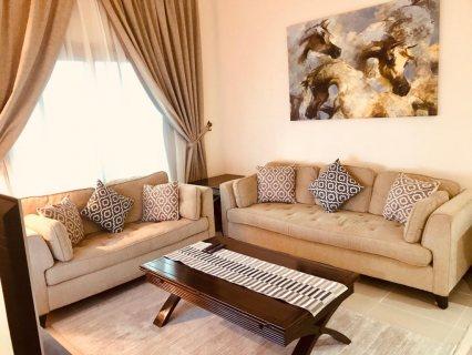 للايجار شقة مفروشة بالخان الشارقة غرفة وصالة فرش ممتاز اول ساكن