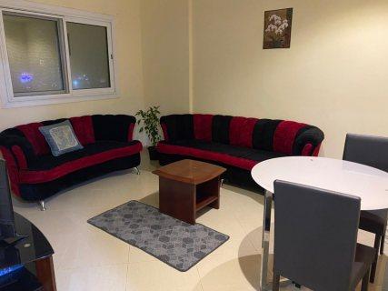 للايجار شقة مفروشة بالشارقة غرفة وصالة الخان - التعاون