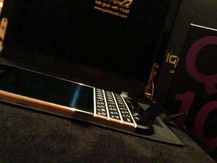 Now Available Blackberry Q10 Gold 24 Carrat Gold Bezel