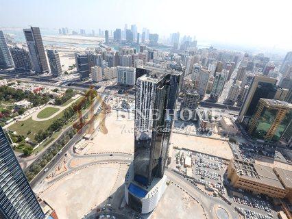 للبيع..أرض تجارية   مع تصريح بناء برج 18 طابق   النادي السياحي أبوظبي