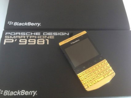 BLACKBERRY PORSCHE P9981 GOLD DESIGN And BB Q10 with special pin