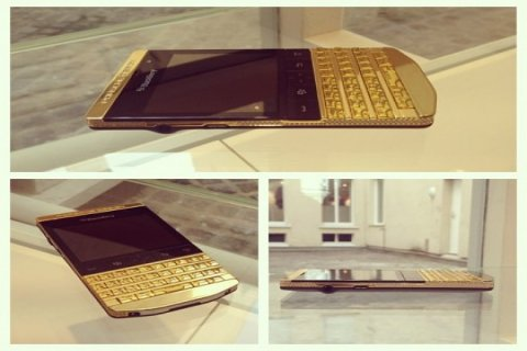 New Blackberry porsche Design P9981 Gold:(BBM chat: 295941E1)