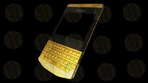 بلاك بيري بورش تصميم الذهب والذهب الأسود P\'9981 إضافة دبوس