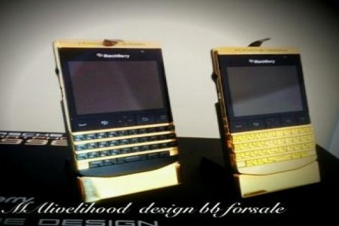 Blackberry Q10 - BB Porsche P\'9981 Gold-black Pin 233DAA2F