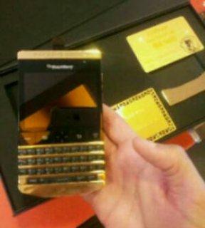 بلاك بيري بورش ديزاين P9981 الذهب عربي + لوحة المفاتيح الإنجليزي