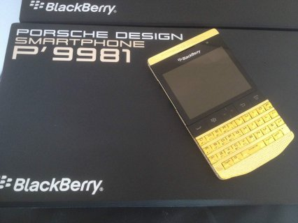 F/S: Blackberry porsche Design Gold)