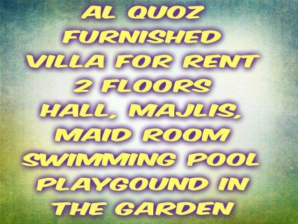 Al Quoz, furnished villa for rent / القوز, فيلا مفروشة للإيجار
