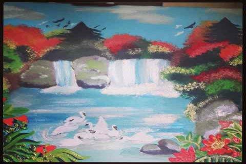 شلالات بحيرة البجع