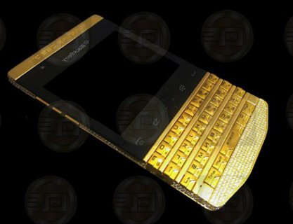 Golden Blackberry Porsche P9981 with special pin,Q10, Apple IPho