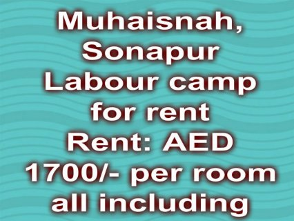 Muhaisnah ( Sonapur), labour camp for rent / محيصنة , سكن عمال ل