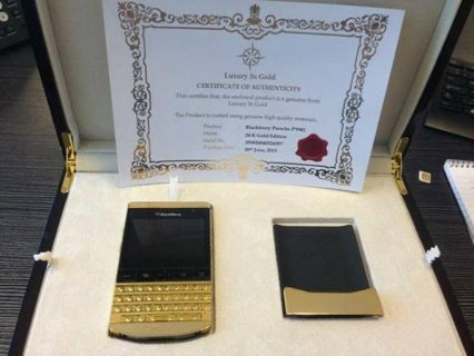(Add Pin : 233DAA2F )Pure Gold Blackberry porsche P\'9981