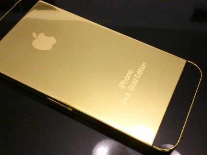 2 iPhone 5 gold 24 karate