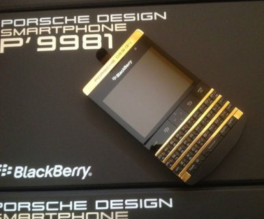صور Blackberry P'9981 Gold-Black Add Pin 233DAA2F 1