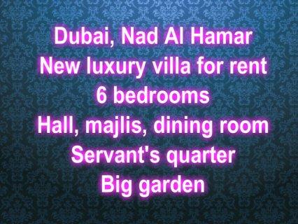 / Nad Al Hamar, new villa for rent ند الحمر, فيلا جديدة للإيجار