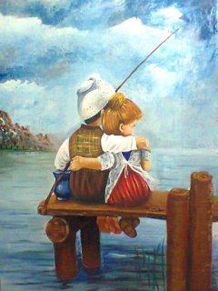 لوحة صيد الطفولة