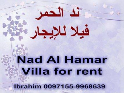 Nad Al Hamar, big villa for rent / ند الحمر, فيلا للإيجار