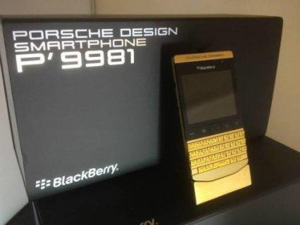 الجديد بلاك بيري بورش P9981  الذهب / ابل اي فون 5S  الذه