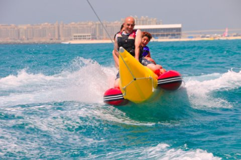 water sport Dubai | banana ride Dubai
