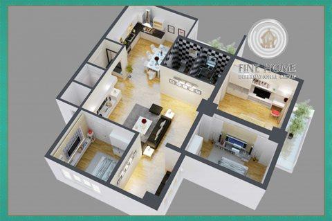للإيجار.. شقة غرفتين في مدينة محمد بن زايد,أبوظبي