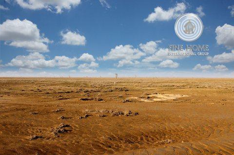 للبيع أرض سكنية مساحة 50 الف قدم مربع في مدينة محمد بن زايد