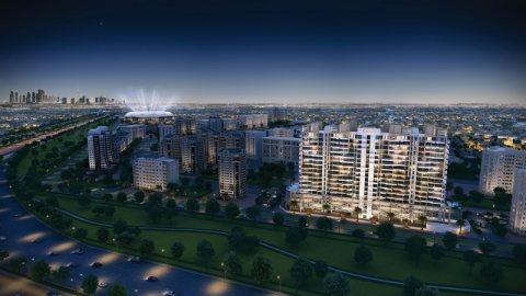 شقق جديدة للبيع في مدينة دبي الرياضية مع إطلالة بانورامية