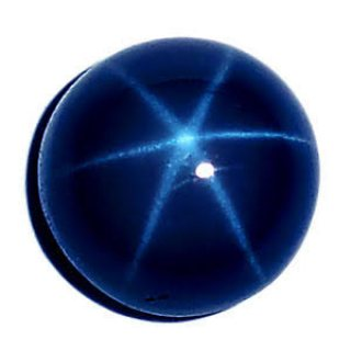 Natural star sapphire with the certificate
