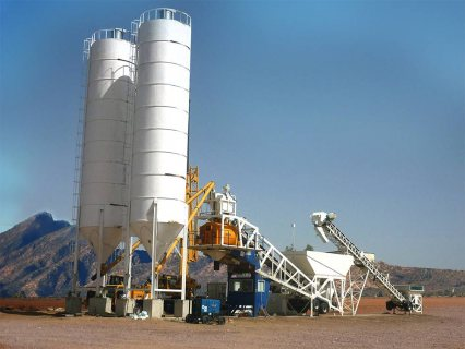 60 م³ / سا محطة خلط الخرسانة