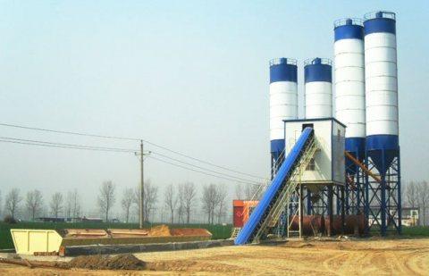 90 م³ / سا محطة خلط الخرسانة