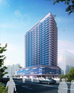 تملك شقة فاخرة غرفة وصالة في دبي في مدينة دبي الرياضية ب 560 ألف درهم تقسيط