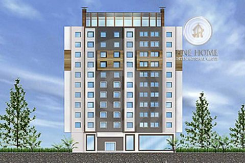 للبيع..بناية 9 طوابق علي شارعين في منطقة النادي السياحي أبوظبي