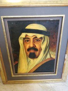 لوحات فنية لملوك وامراء المملكة العربية السعودية